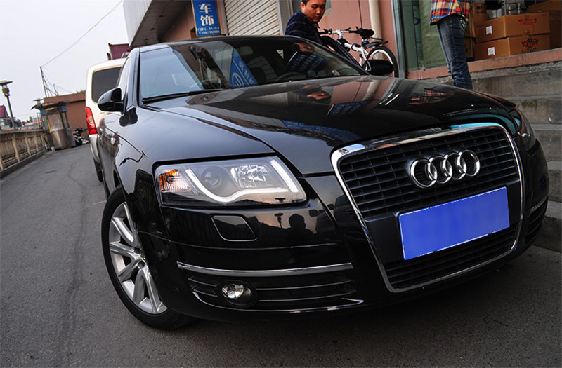 VLAND manufacturer for Car head lamp for AUDI A6 LED Headlight 2005 2008 Head light with H7 Xenon lamp and Day light