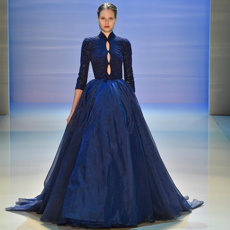 Compare Prices on Elegant Long Sleeve Evening Dresses Ball Gown ...