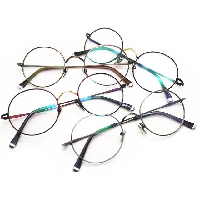 Nova Edição Incluindo Também Lang Fundo Miopia Espetáculo Quadro Restaurar Antigas Formas Exceder Pequenos Óculos de Armação Redonda De Metal Leve