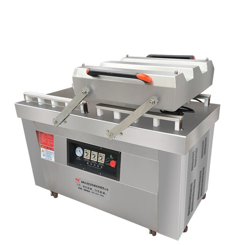 Scelleur automatique sous vide alimentaire Double chambre sous vide sous vide-humide sous vide scellé en acier Machine d'étanchéité DZ-600