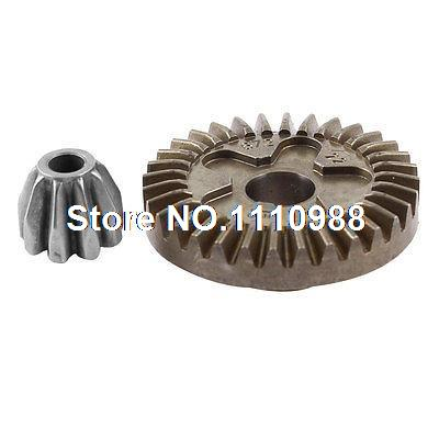 2 Pcs Metal Spiral Bevel Gear Wheel Set for Bosch GWS 6-100 Angle Grinder angle grinder spare part spiral bevel gear set for hitachi 180 angle grinder page 3