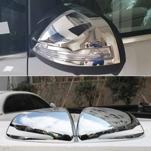 KOUVI ABS Chrome сторона Зеркало заднего вида крышка клеющийся молдинг гарнир аксессуары для Mercedes Benz V класса V260 V260l 17 18