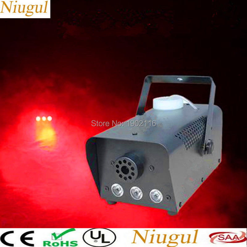 Red color LED 500W smoke Machine/Wire or remote control 500w led fog Machine/led fogger disco dj equipment with Free shipping цена 2017