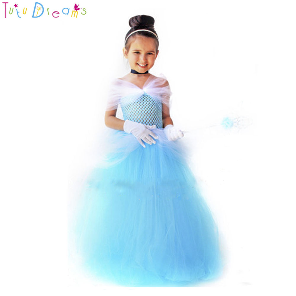 b66f08ce42 Storybook Princess Cinderella Birthday Party Tutu Dress Yellow Red Blue  Fairy Tale Snow White Tutu Dresses Halloween Costume -in Dresses from  Mother   Kids ...