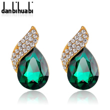 Shimmer Chic vintage black Crystal Earring Gold Tone  for Women