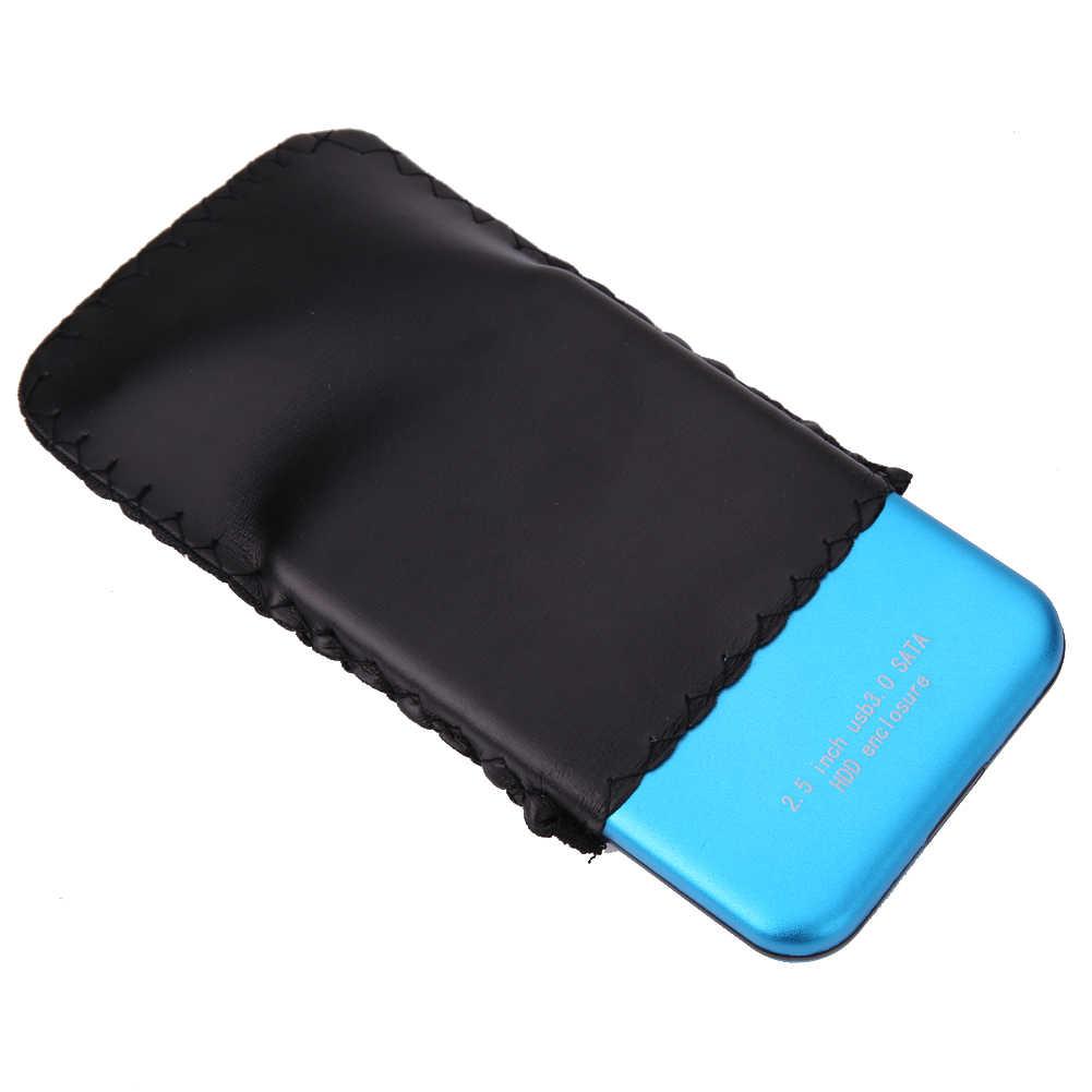Supervelocidad 2,5 pulgadas SATA HDD carcasa de aluminio USB 3,0 a SATA externo HDD HD caja de disco duro cubierta caja bolsa