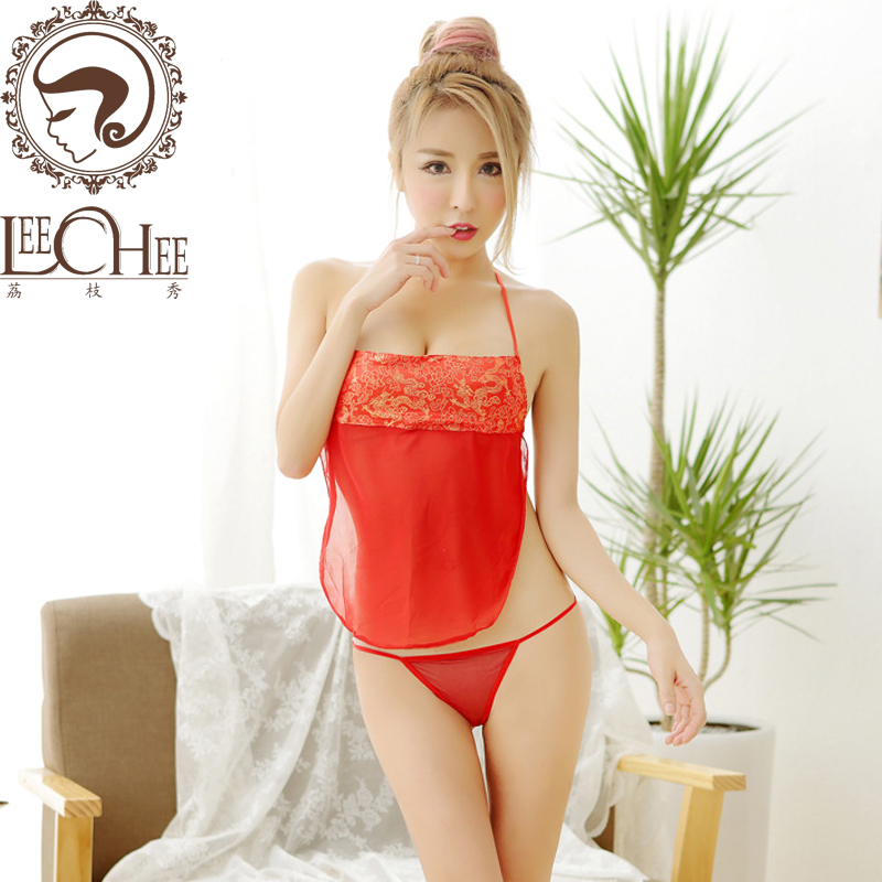 Leechee Q743Women sexy lingerie lenceria sex perspective embroidery babydoll temptation uniform erotic underwear porn costumes
