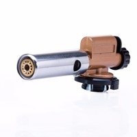 Electronic Ignition Copper Flame Butane Gas Burners Gun Maker Torch Lighter For Outdoor Camping Picnic Cooking