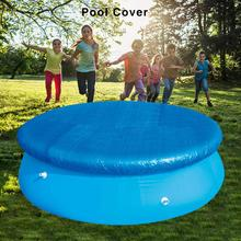 396CM New High-quality Inflatable Pool Cover Cloth Covers Swimming Pool Dust Tarpaulin Blue Pool Cover Support Wholesale(China)