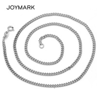 18 Inch White Gold Color Top Quality 925 Sterling Silver Chain Necklaces For Men Pendant Fine Jewelry Father's Day Gift SCN T07