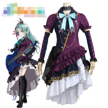 Anime Cosplay Costume BanG Dream BLACK SHOUT Hikawa Sayo Concert Dress Z