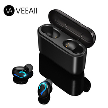 VEEAII TWS 5.0 Bluetooth Earphone Wireless Waterproof Sport Music Stereo Earbuds Headset Earphone Charging Box for iPhone Huawei tencent earbuds mini wireless bluetooth earphone earpieces stereo music headset for apple iphone andriod wp with charging box