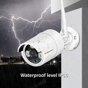 Image 5 - Jennov sistema de cámara de seguridad inalámbrica HD, Kit NVR de 5MP y 4 canales, cámara IP de videovigilancia para exteriores, WiFi, videovigilancia H.264 + sistema de Audio