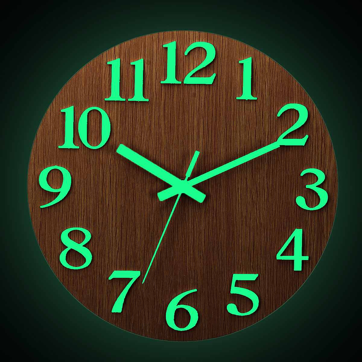 12 Inch Silent Luminous Wall Clocks Glow In Dark Modern 3D Decor Home Living Room Bedroom Quartz Wall Hanging Clock