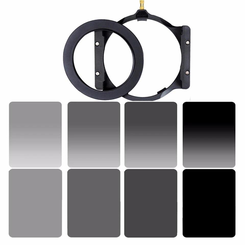 A manera de 150*100mm cuadrados de kit de conjunto y de densidad Neutral ND2 ND4 ND8 ND16 Cámara soporte filtro y anillo adaptador para Cokin Z