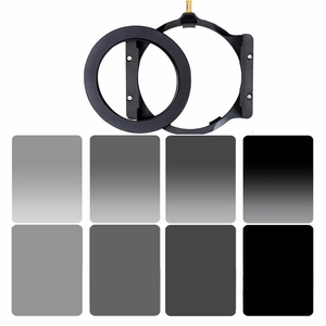 Walking Way 150*100mm square filter set kit ND Neutral Density ND2 ND4 ND8 ND16 camera filter holder & adapter ring for Cokin Z(China)