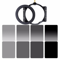 Walking Way 150*100mm square filter set kit ND Neutral Density ND2 ND4 ND8 ND16 camera filter holder & adapter ring for Cokin Z