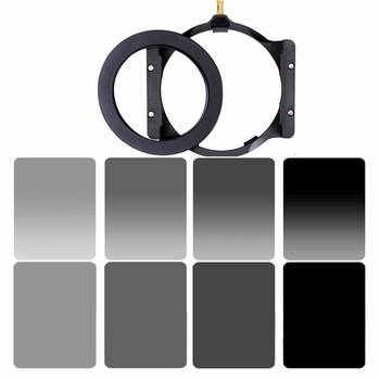 Walking Way 150*100mm square filter set kit ND Neutral Density ND2 ND4 ND8 ND16 camera filter holder & adapter ring for Cokin Z nisi square filter digital compact system camera 70x100mm soft gnd 0 9 square gradient micro camera grey filter