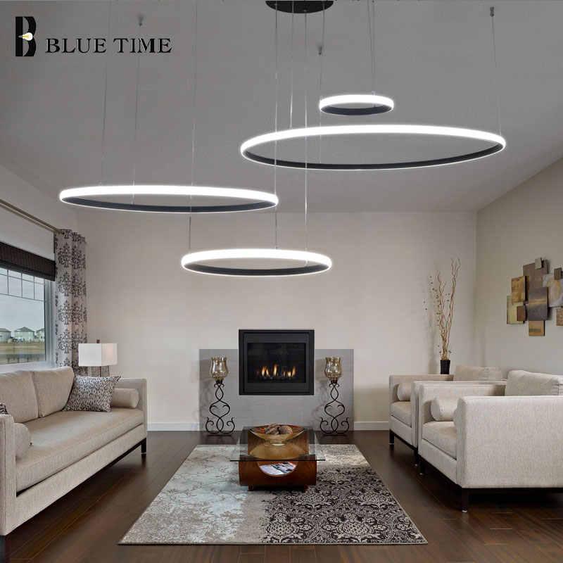 Современный светодиодный Люстра для кухни, гостиной, спальни, столовой, светодиодный светильник, кольца, Хрустальная люстра