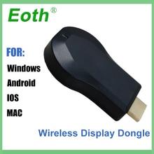 ТВ ключ AnyCast Airplay 1080 P беспроводной Wi-Fi DLNA mirascreen HD ТВ карты стримеры для Android Miracast tv ios
