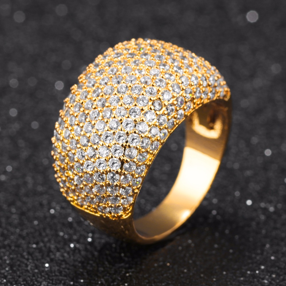 Zirkonia Ring Dicke Mode Frauen Grossen Ring Hochzeit Verlobungsringe