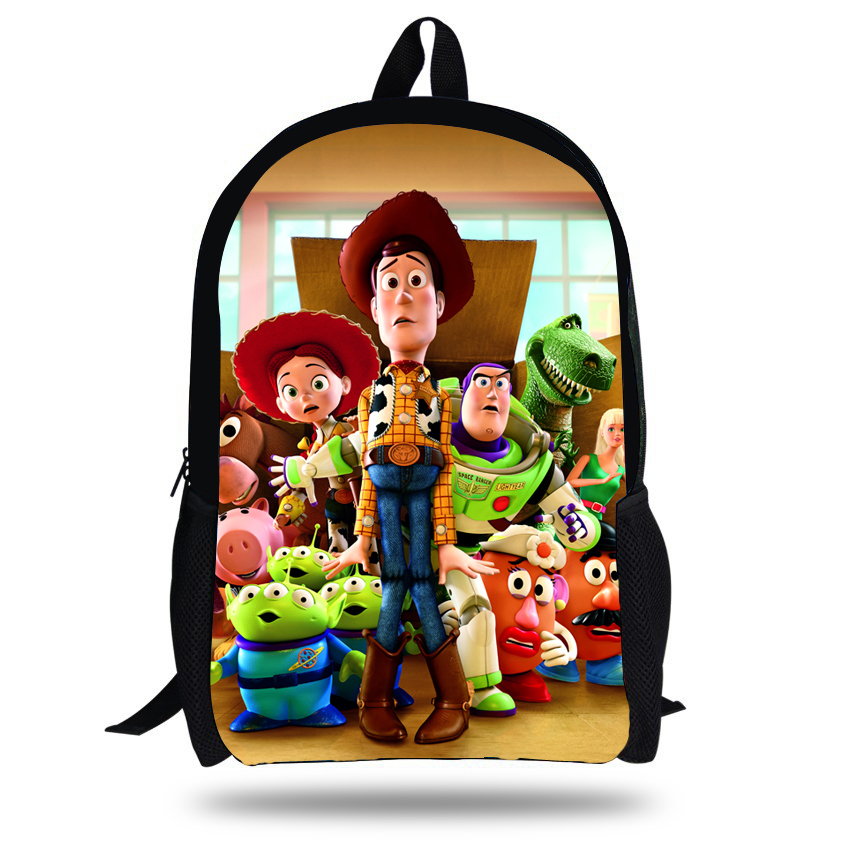 4f91a05cb21 16-inch Cartoon Teenage Boys School Bags Toy Story Backpack Buzz Lightyear  Print Age7-