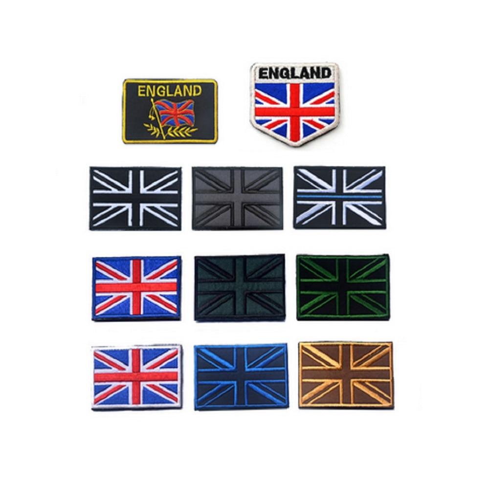 Vyšívané záplaty 3D Britská vlajka záplaty Union Jack Anglie Velká Británie Velká Británie záplata Britské záplaty vlajky