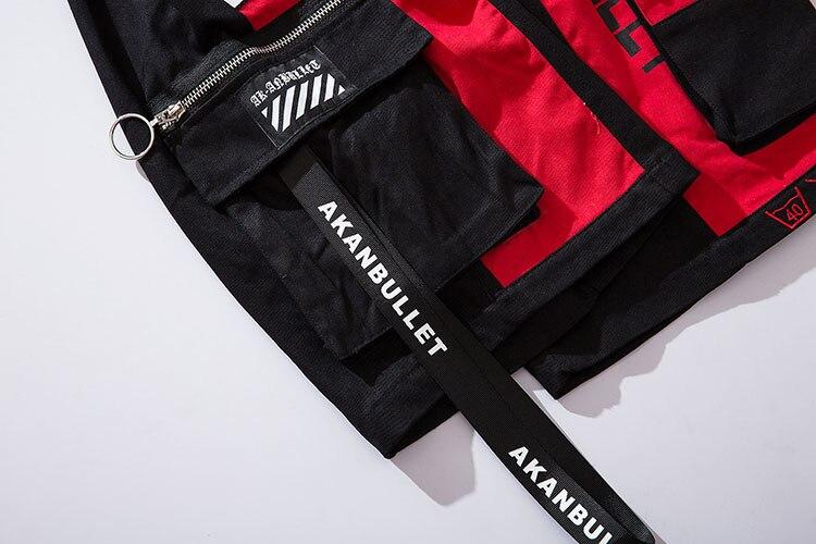 Side Ribbon Zipper Pockets Cargo Baggy Shorts 14