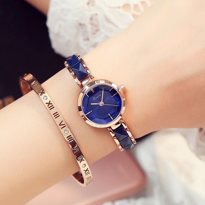 KIMIO Fashion Rose Gold Bracelet Watch Women