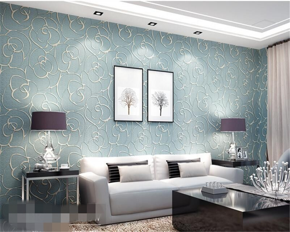 Beibehang papier peint relief wand papier vliesstoffe schlafzimmer ...