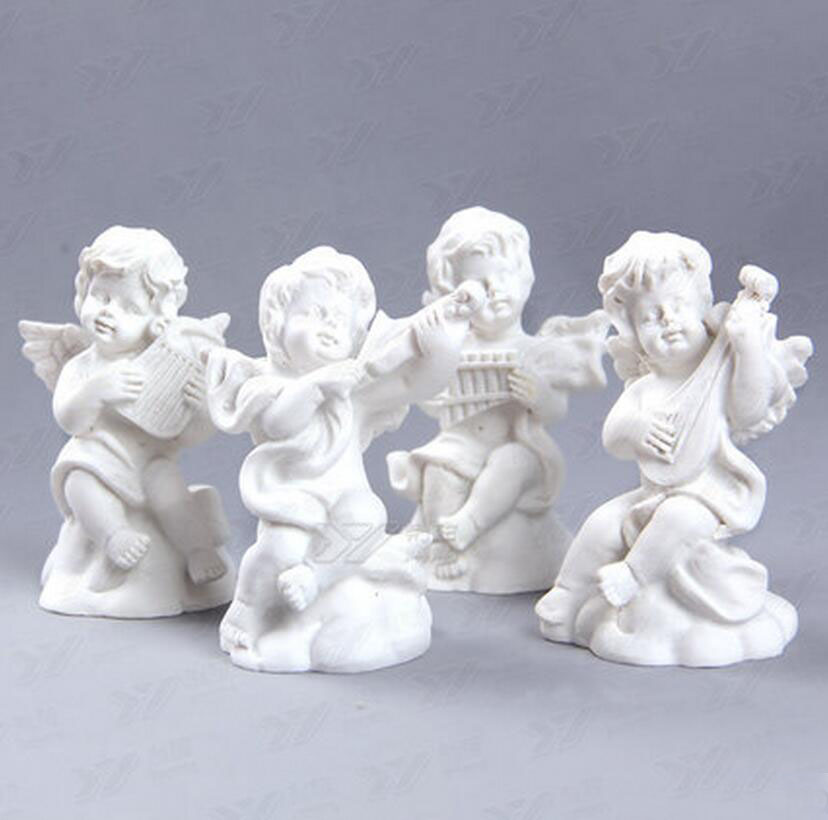 Hot Sale Moulds 3D Angels Chocolate Candy Soap Candles Resin Gypsum Model Rubber Mold 4 Pieces