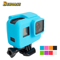 Colorido go pro hero 5 action camera caso capa de silicone protetora para gopro hero 5 preto acessórios da câmera