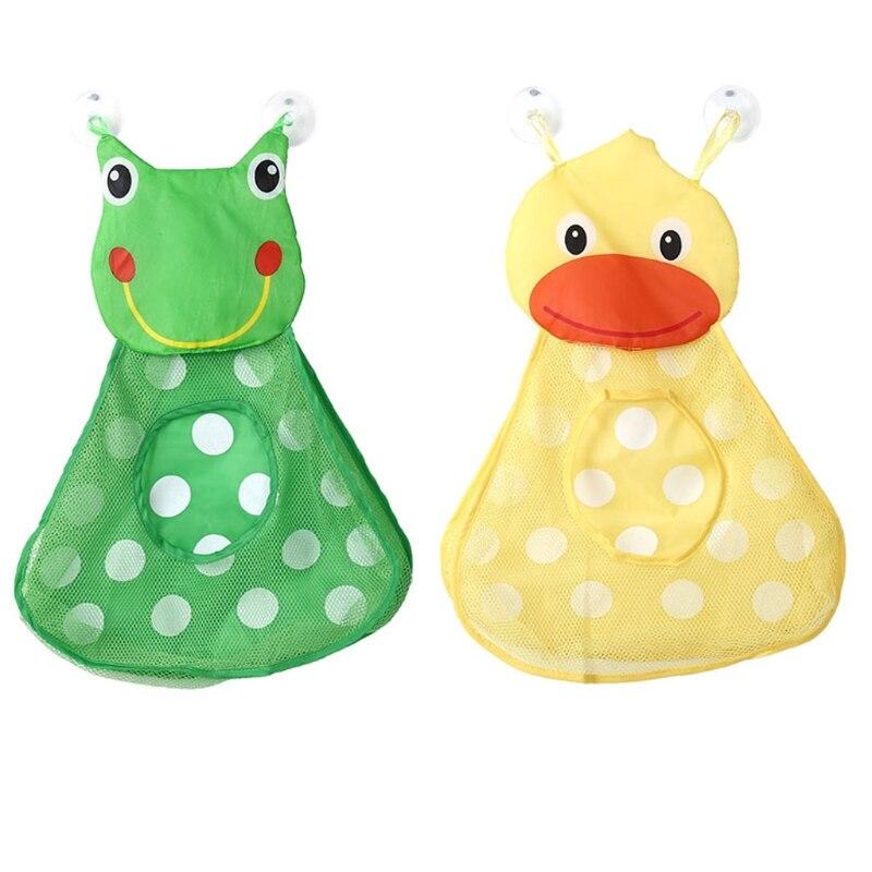 Cute Animal Collapsible Toy Storage Organizer Folding: Cute Baby Bath Animal Toy Mesh Net Storage Bag Organizer