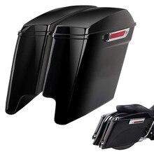 Triclicks 5 «Vivid Black растягивается расширенные сумки для Harley Touring 14-18 W/защелка