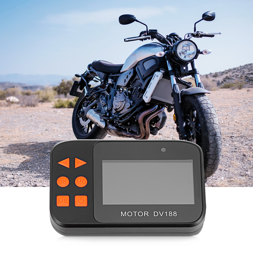 DV188 мотоцикл видеорегистратор 130 градусов Водонепроницаемый объектив 1080p G-Датчик циклическая запись поддержка до 64g