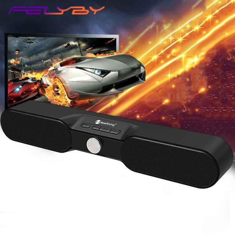 FELYBY Wireless Bluetooth Speaker Soundbar Stereo  AUX TF audio home theater wireless Bluetooth speaker computer speaker