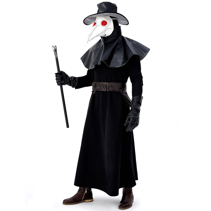 Adult Dr. Plague Doctor Schnabel Party Halloween Cosplay Horrible Carnival Costume For Man