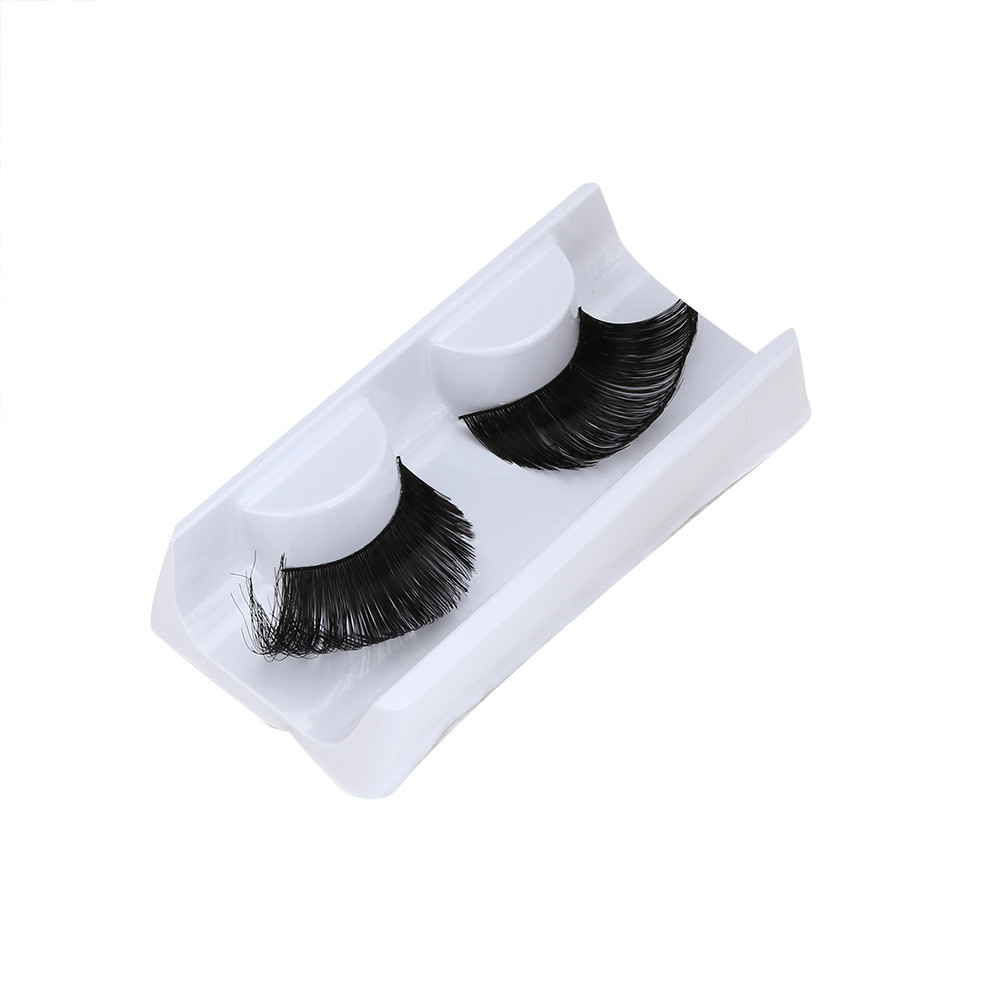 2017 Women Soft Feather False Eyelashes Pro Natural Long Eye Lashes Makeup Party Club Black Extention Tools Pestanas falsas