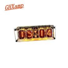 Ghxampで 12 グロー管 4 桁時計カラフルなledバックライトDS3231 ニキシー時計IN 12B DC5V usb電子diy
