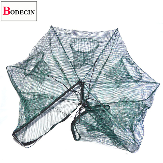 Awesome 6 Holes Fishing Net Folded Portable Hexagon Fishing Accessories Brand Name: BODECIN