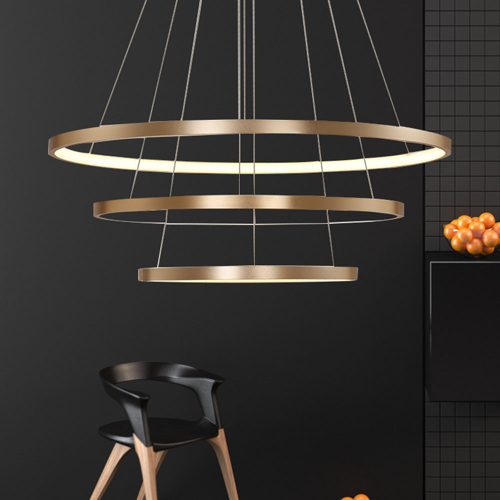 hghomeart led ring chandeliers luster in the living room lamp modern chandelier suspension light. Black Bedroom Furniture Sets. Home Design Ideas