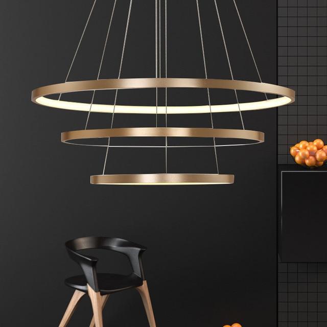 HGHomeart LED Ring Kronleuchter Glanz Im Wohnzimmer Lampe Moderne ...