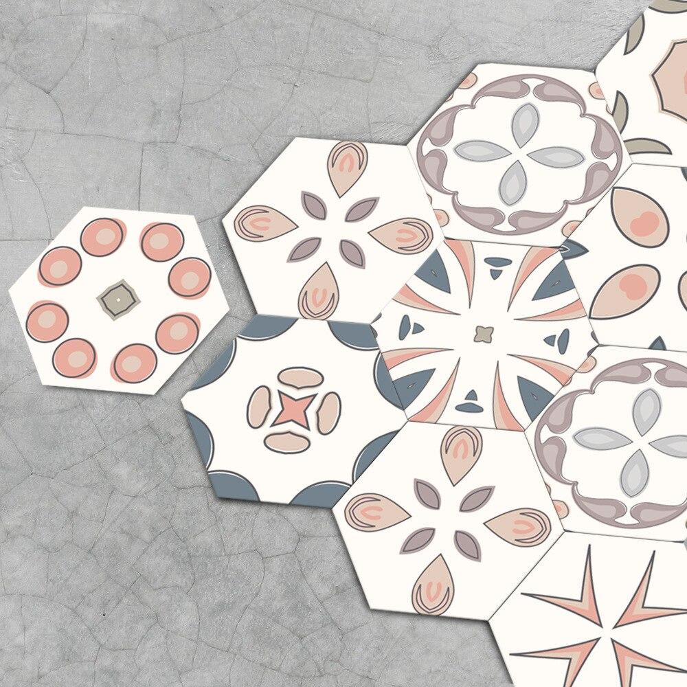 Moroccan Style Hexagonal Honeycomb Floor Floor Sticker Self Adhesive Tile Art DIY Kitchen