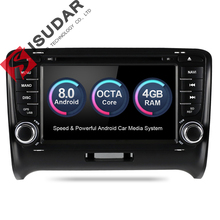 Isudar Car Multimedia Player DSP Car Radio GPS Android 8.0 2 Din For Audi/TT 2006-2012  Canbus DDR3 4GB OBD2 Bluetooth Wifi DVR