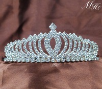 Small Pretty Tiara With Hair Combs Crystal Rhinestones Crown Pageant Prom Aniversary Party Headband Headpieces For