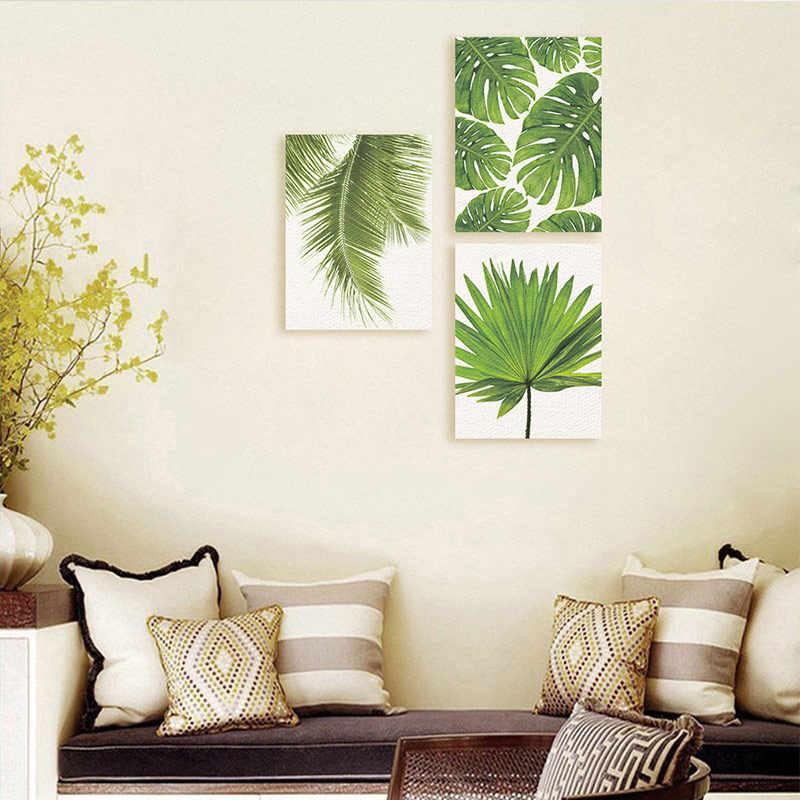 الشمال نمط 1 قطعة اللوحة الزخرفية الحديثة غرفة المعيشة جدار صور غير المؤطرة المشارك الفن الملصقات نبات ورقة قماش جودة عالية