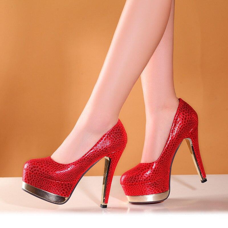 YMECHIC Summer High Heels Women Shoe Leopard Gold Red Platforms Ladies Party Wedding Pumps Printed Womens
