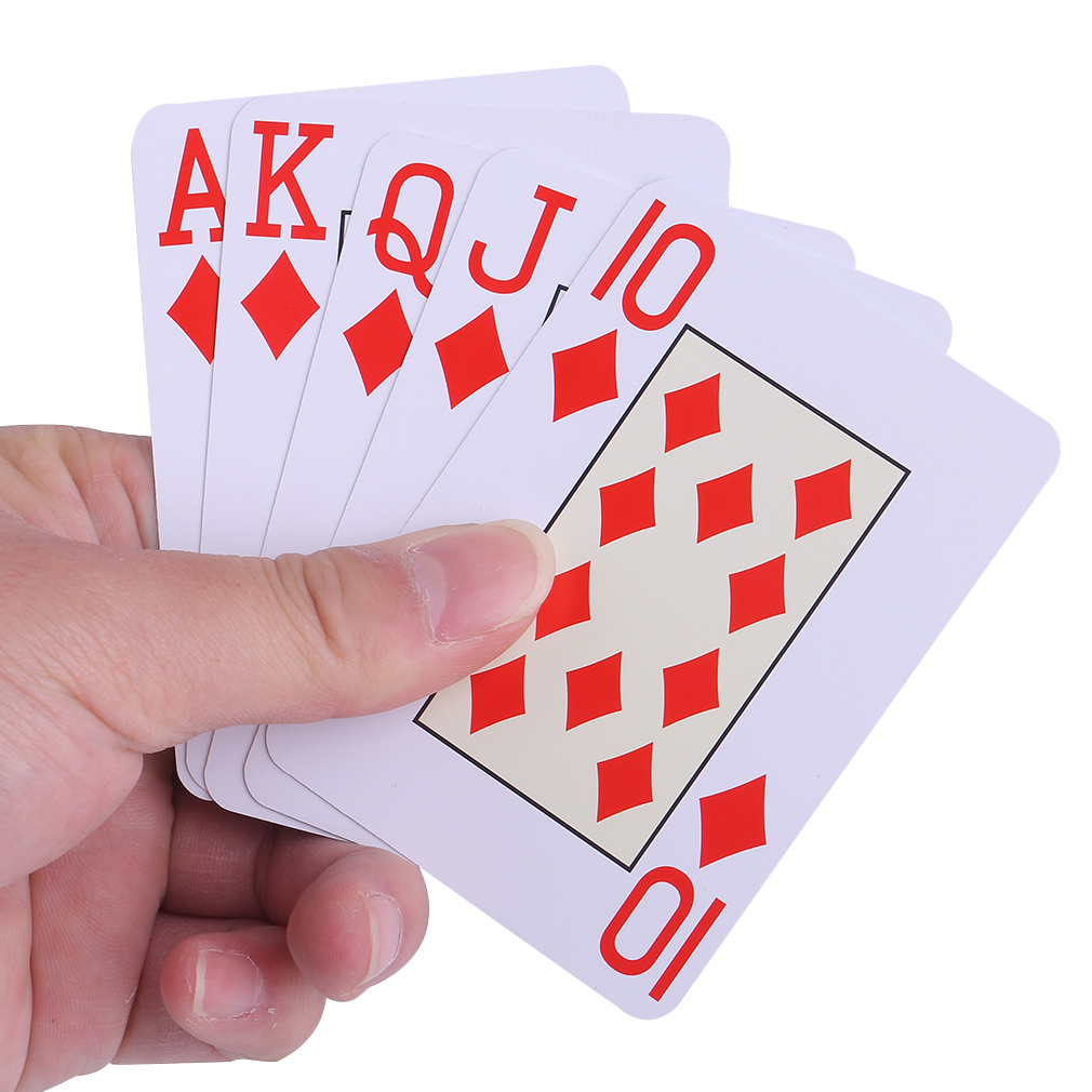 Scrub Type Texas Holdem Playing Cards Waterproof Durable PVC Plastic Novelty Poker Card Board Games