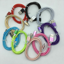 Nylon Micro USB Charger Cable Charging Data Sync Cord For Android Samsung Huawei Xiaomi Meizu Lenovo HTC LG Sony Nokia Tablet PC