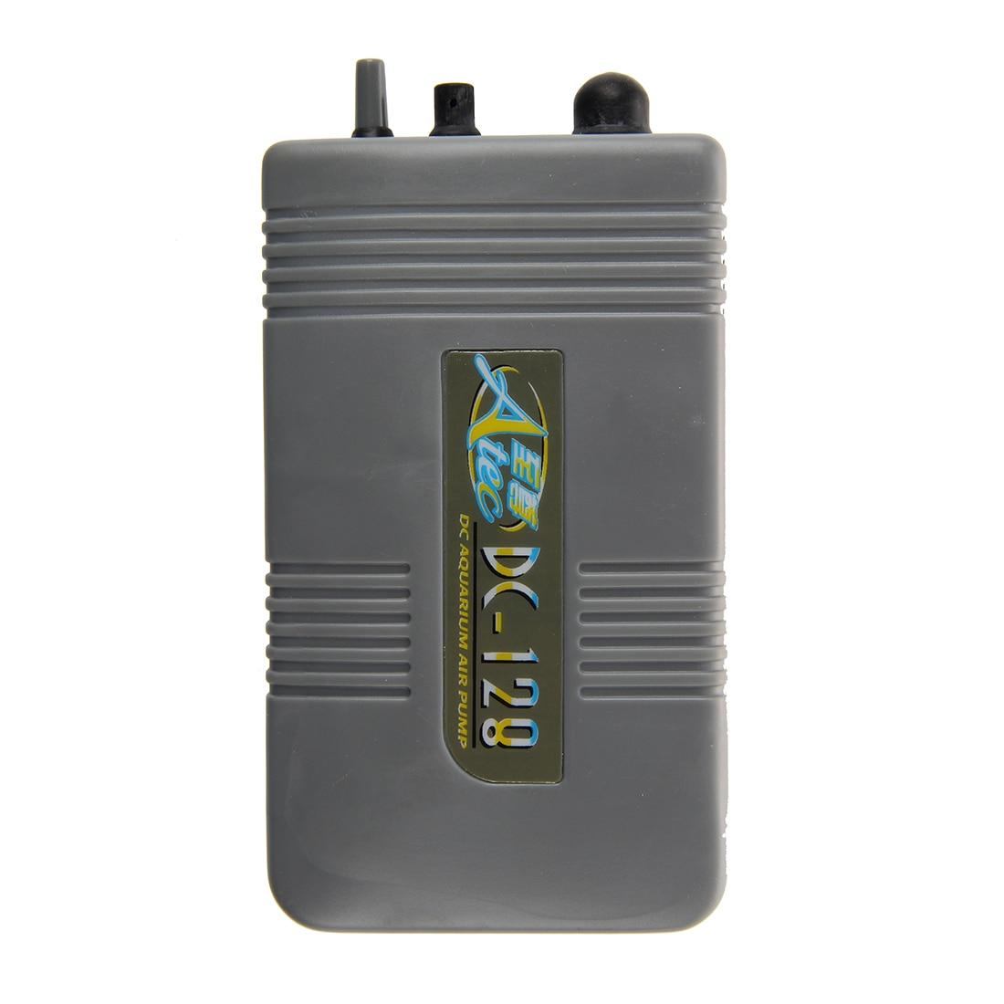 Portable Battery-Operated Fish Tank Aquarium Air Pump--Grey